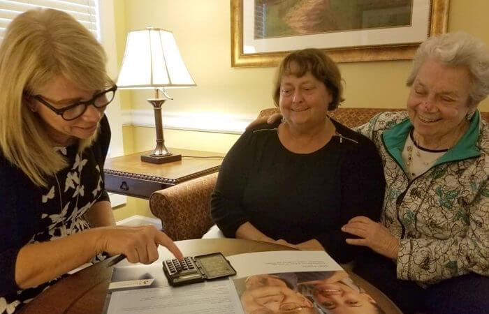Women looking over paperwork