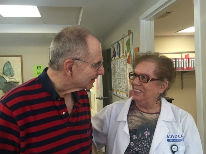 A patient talking to the doctor