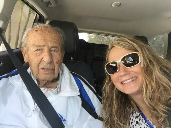 A man and a woman in the car