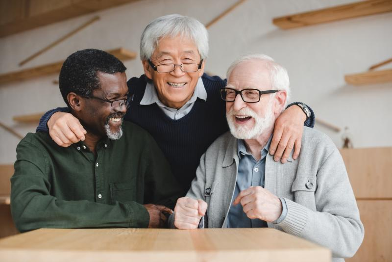Elders having a great time together